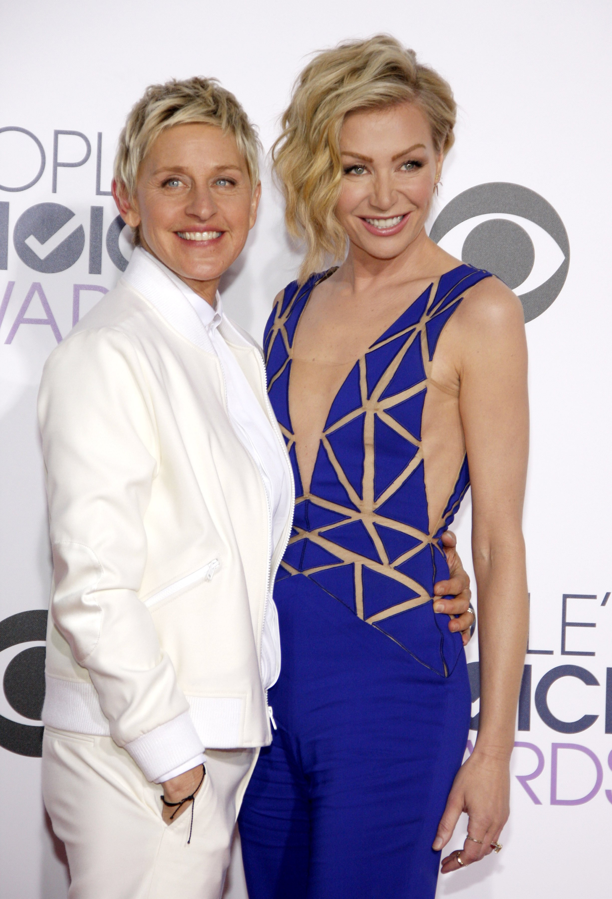 Ellen DeGeneres and Portia de Rossi at the 41st Annual People's Choice Awards at the Nokia L.A. Live Theatre in Los Angeles on January 7, 2015 | Photo: Shutterstock