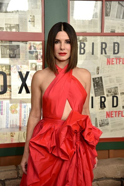 "Sandra Bullock attends the New York special screening of The Netflix Film ""BIRD BOX"" at Alice Tully Hall on December 17, 2018 in New York City 