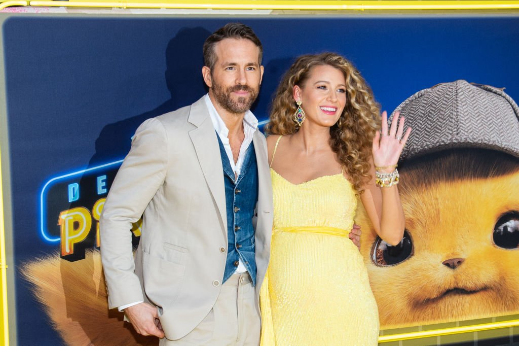 "Ryan Reynolds et Blake Lively assistent à la première de ""Pokemon Detective Pikachu"" à Military Island à Times Square le 2 mai 2019 à New York City. 