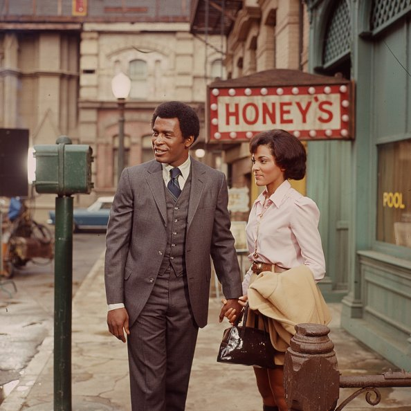 """Scoey Mitchell and Tracy Reed appearing in the Walt Disney Television series """"Barefoot in the Park,"""" circa 1970.   Photo: Getty Images"""