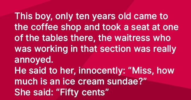 Heartwarming story about a poor boy and an ice cream