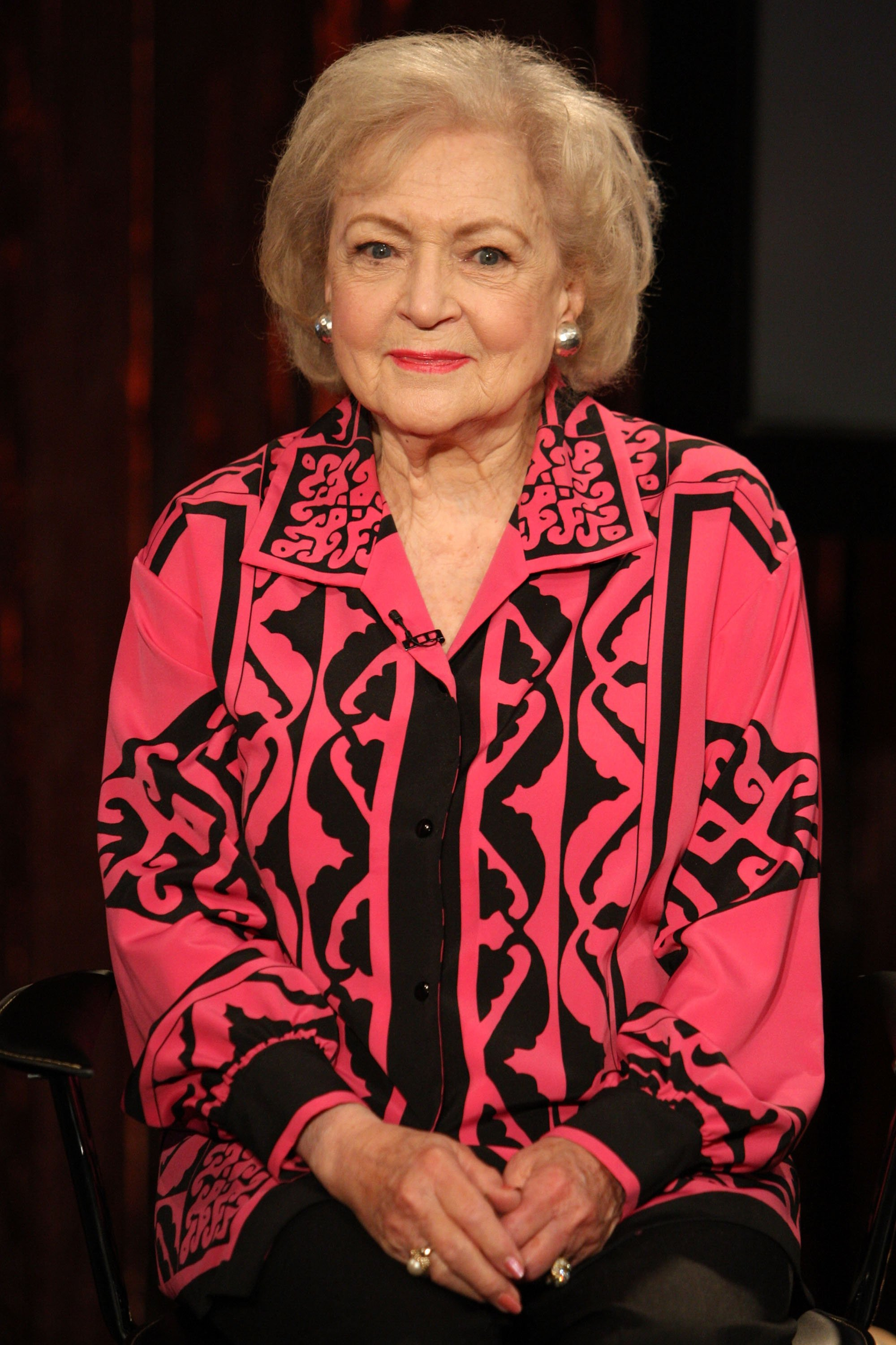 """Betty White visits Fuse's """"No. 1 Countdown"""" at fuse Studios on June 11, 2009 