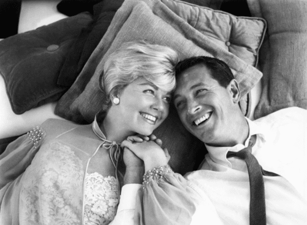American actors Doris Day (1922 - 2019) and Rock Hudson (1925 – 1985) in a scene from the Universal-International comedy 'Pillow Talk,' 1959. | Source: Getty Images