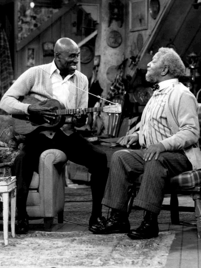 "Scatman Crothers and Redd Foxx as Fred Sanford from the television program ""Sanford and Son."" 