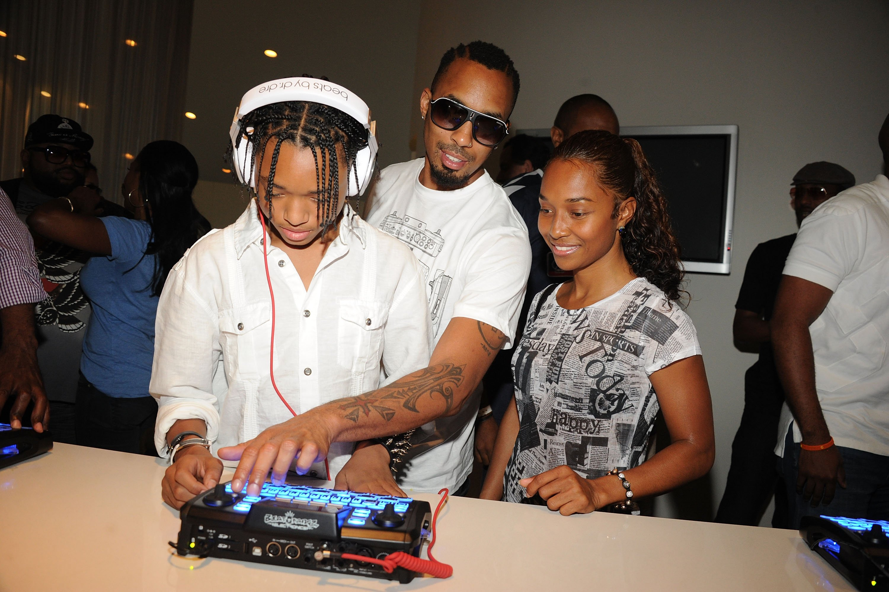 Tron Austin, Producer Dallas Austin and TLC's Chilli during Unbeatable - Beatthang by Dallas Austin Launch Event at Private Residence on May 27, 2011 in Atlanta, Georgia | Photo: GettyImages