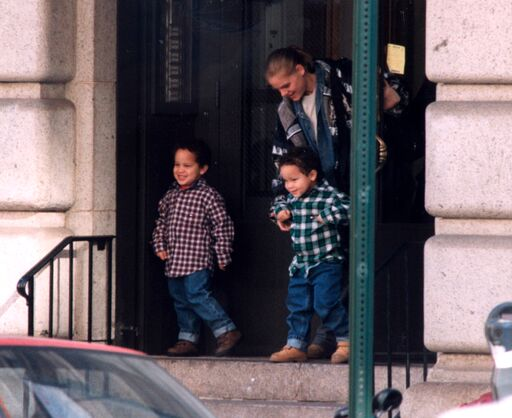 Robert De Niro's twin sons when they were younger | Getty Images/ Global Images Ukraine