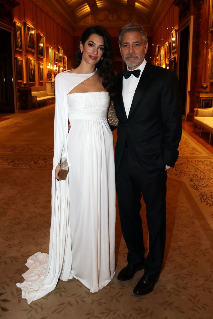 Amal Clooney and George Clooney on March 12, 2019 in London, England | Photo: Getty Images