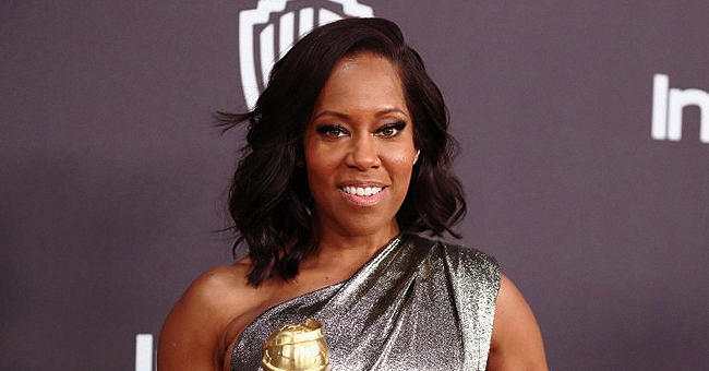 Regina King Flaunts Curves in a Black Cutout Gown in New Video at the 'Watchmen' Premiere