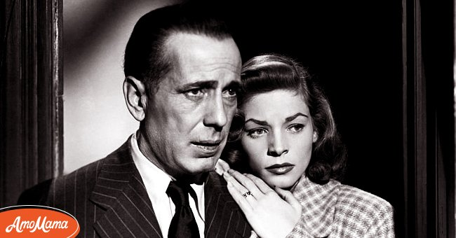 """Humphrey Bogart and Lauren Bacall pictured in the 1946 Warner Brothers film """"The Big Sleep."""" 