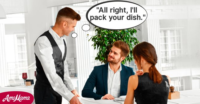 The waiter was happy to put their leftovers in a takeaway container. | Photo: Shutterstock