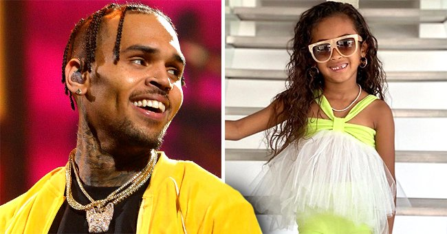 Chris Brown's Mom Joyce Hawkins Shares Adorable Pic with Granddaughter Royalty in Matching Swimsuits