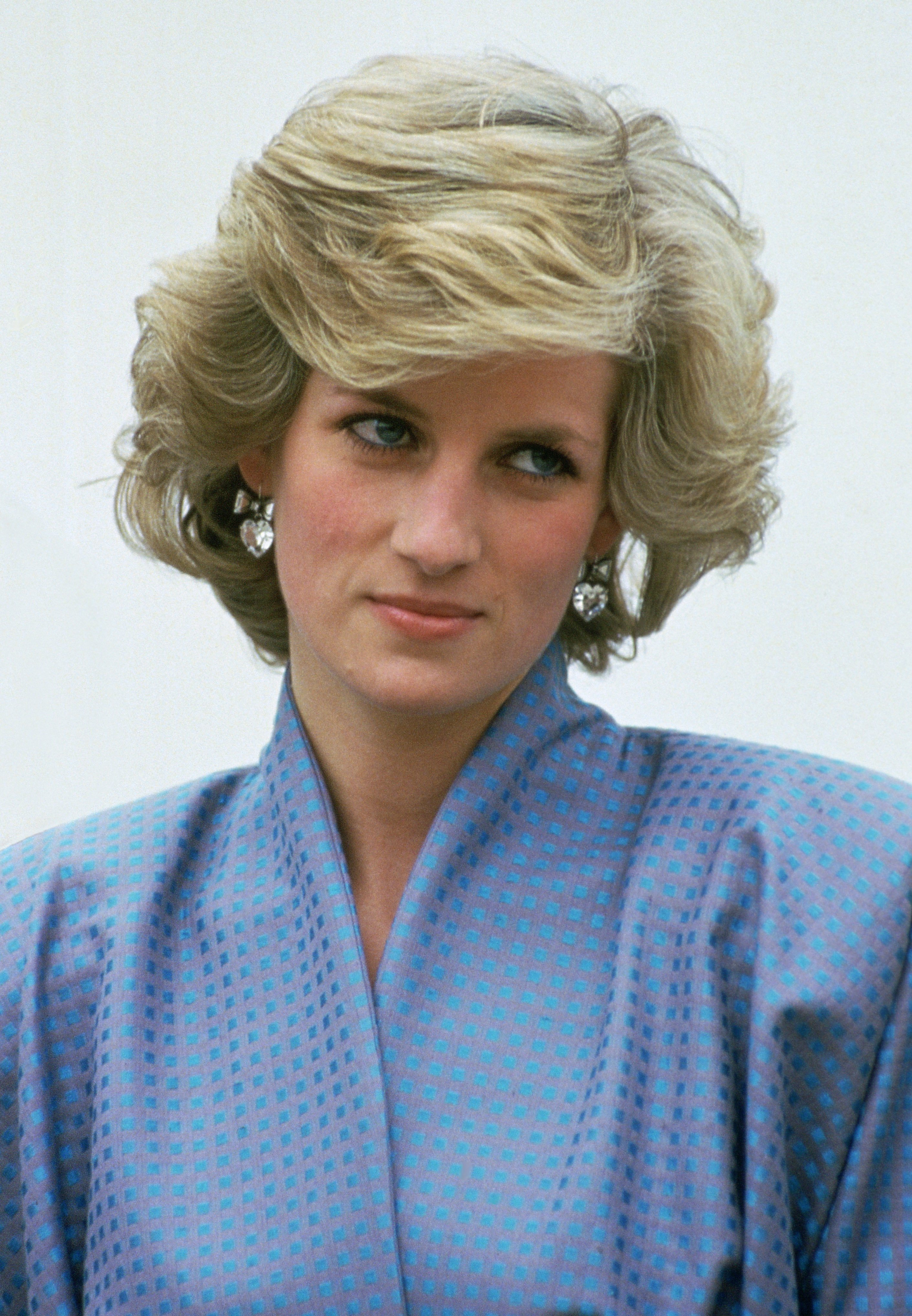 Diana, Princess of Wales, dressed up in a silk suit during an official overseas visit on April 22, Italy   Photo: Getty Images