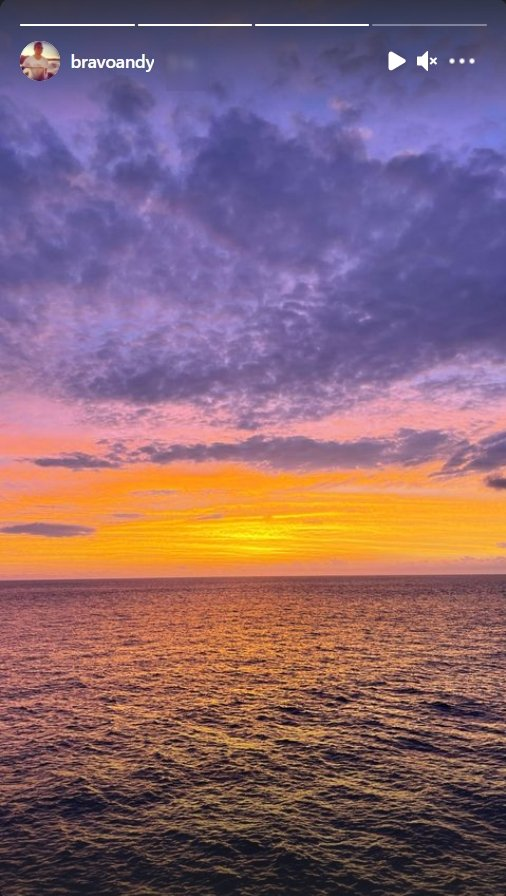 Andy Cohen's view of sunset during vacation | Photo: Instagram/bravoandy