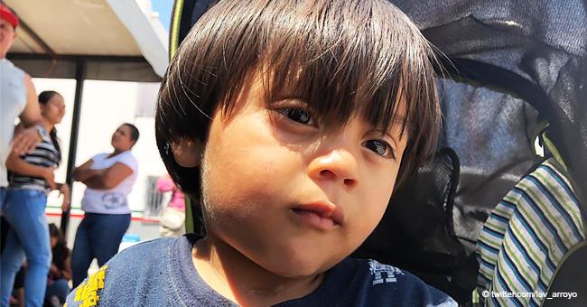 Niño de 2 años herido de bala en la garganta espera cruzar la frontera para tener una mejor vida