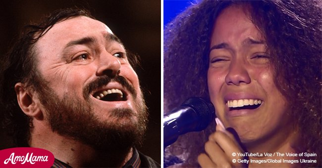 Luciano Pavarotti's granddaughter proved she has an angelic voice while singing a powerful song