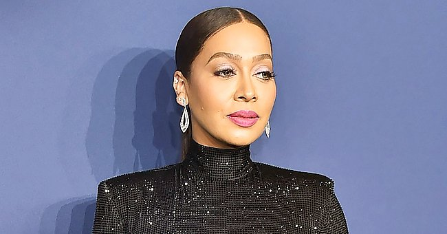 Check Out La La Anthony's Killer Curves as She Poses in a Skimpy Brown Bikini in a Steam Room