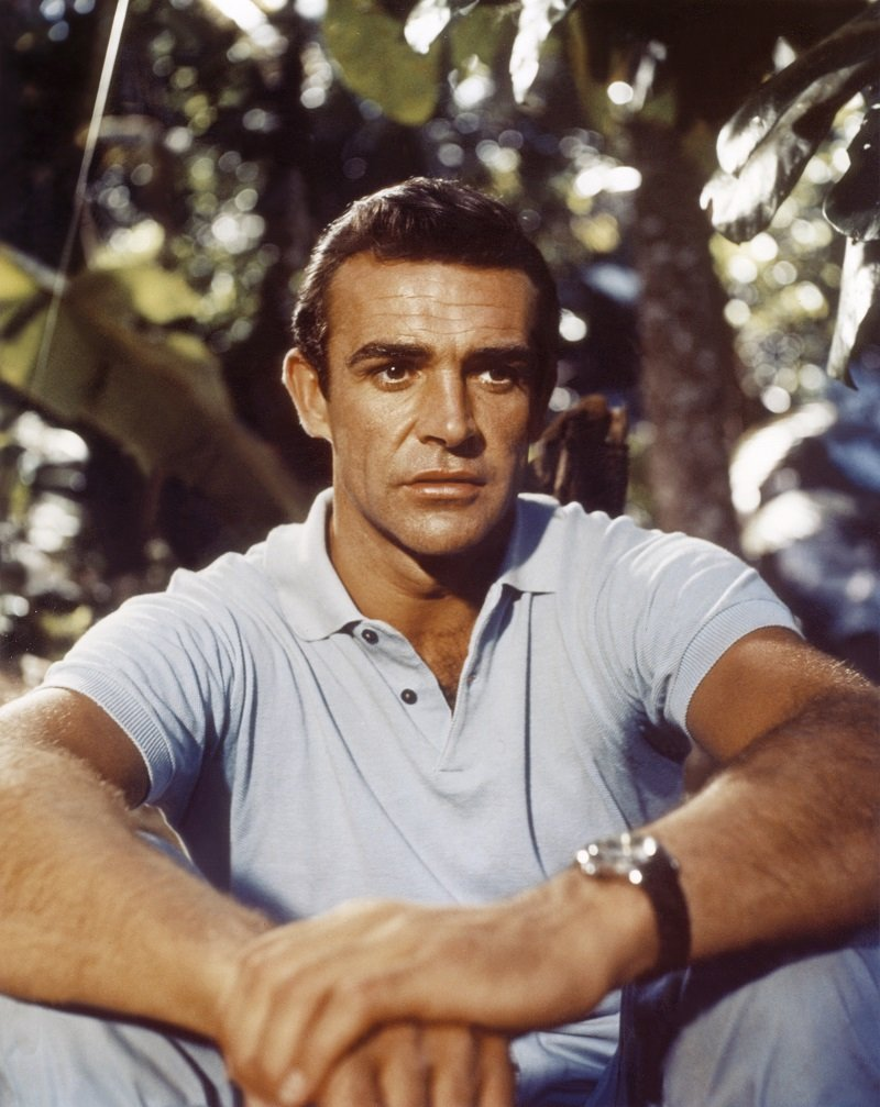 """Sean Connery on the set of """"Dr No"""" circa 1963   Photo: Getty Images"""