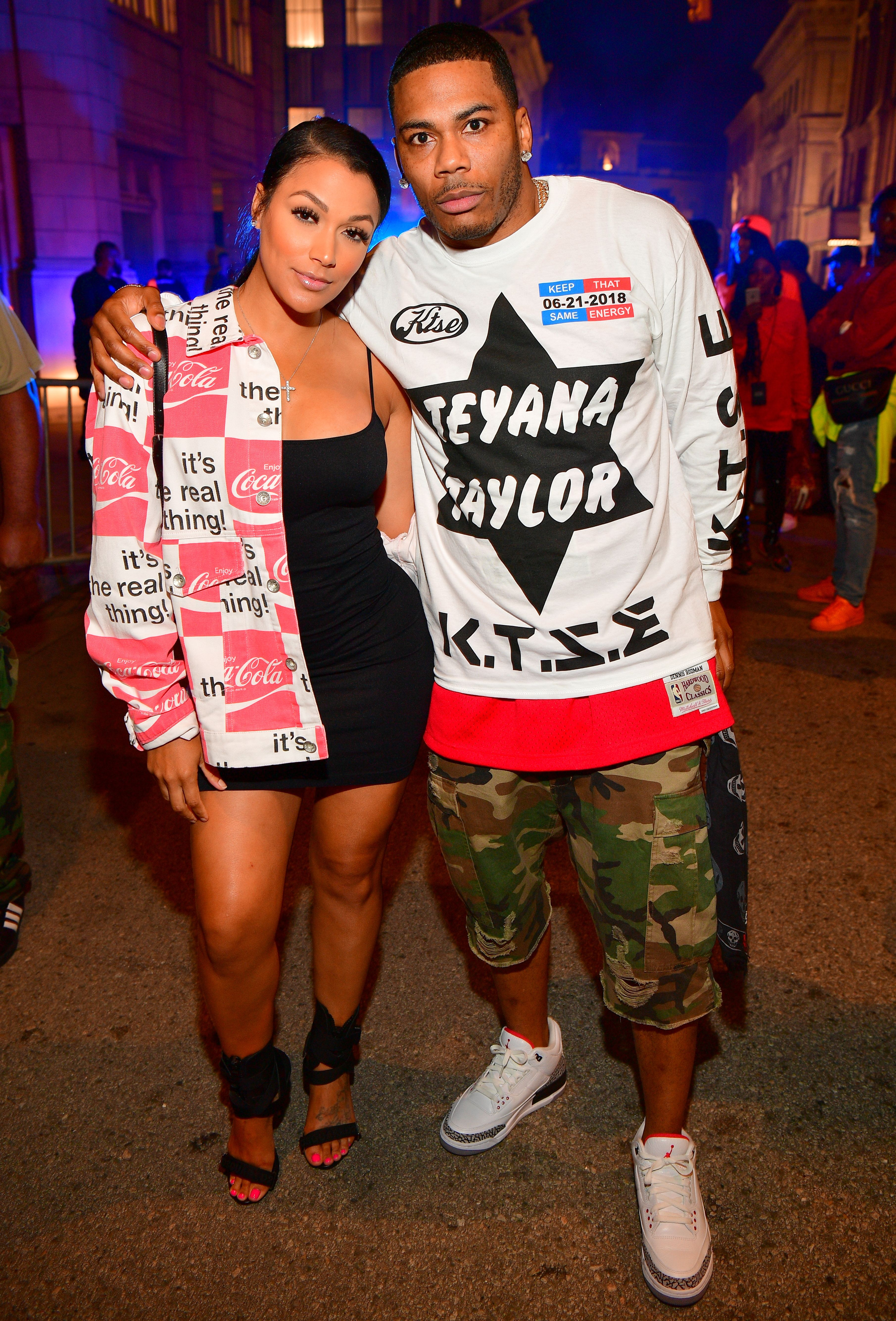 Shantel Jackson and Nelly at Teyana Taylor's album release party at Universal Studios Hollywood on June 21, 2018   Photo: Getty Images