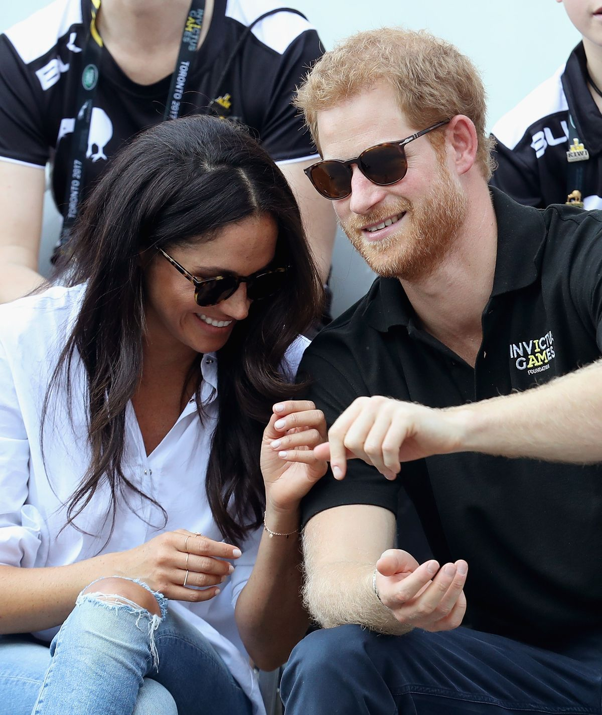 Duchess Meghan and Prince Harry at a Wheelchair Tennis match during the Invictus Games on September 25, 2017, in Toronto, Canada   Photo: Chris Jackson/Getty Images
