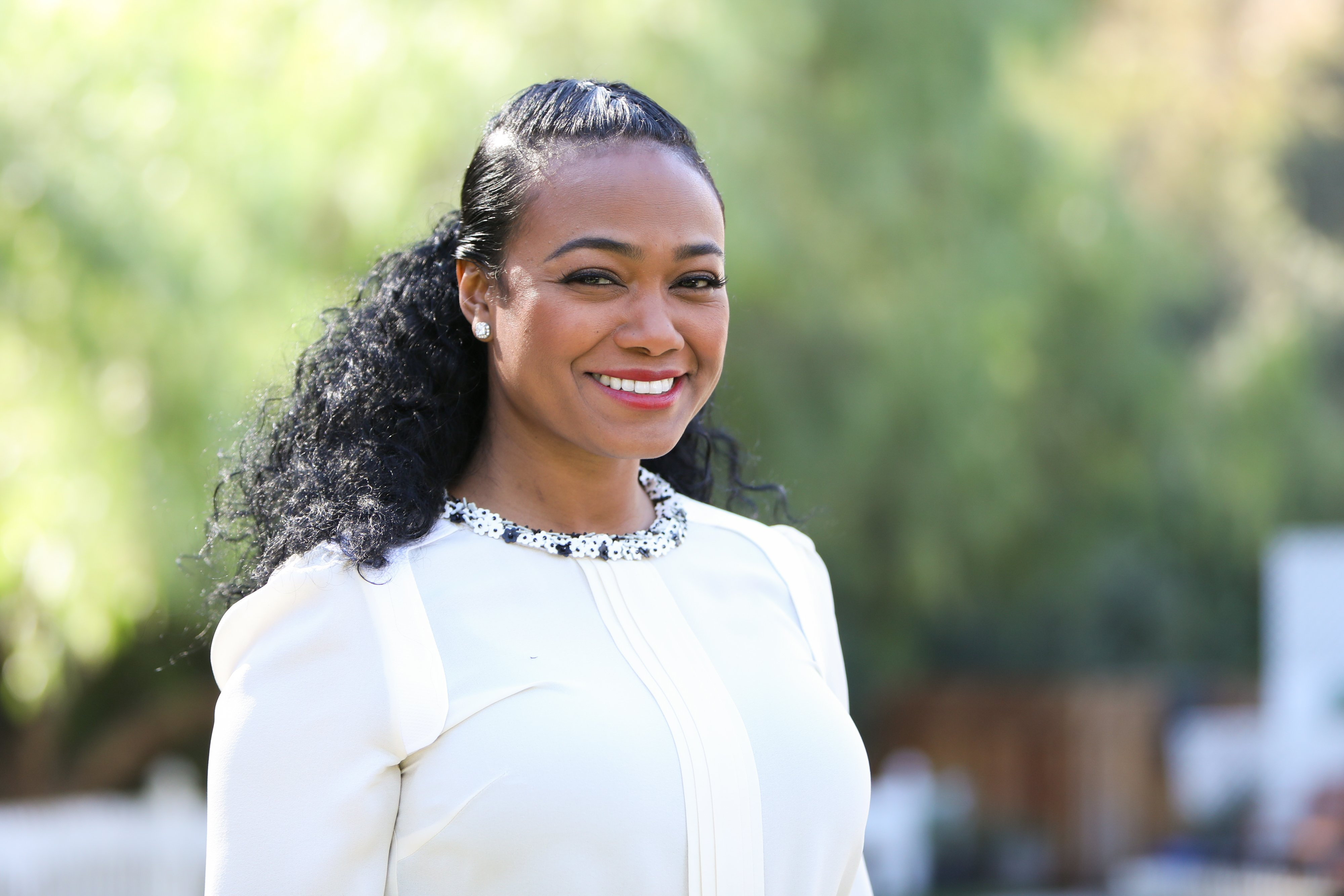 "Tatyana Ali at Hallmark's ""Home & Family"" at Universal Studios Hollywood on November 13, 2018 in Universal City, California.
