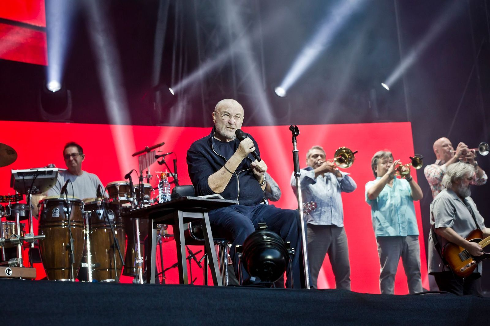 Phil Collins performs live on stage during a concert at the Olympiastation on June 7, 2019, in Berlin, Germany | Photo: Frank Hoensch/Getty Images