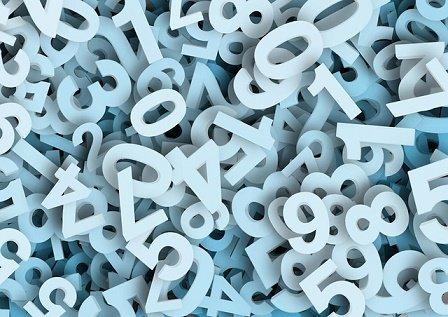 Conjunto de números blancos. | Foto: Wikimedia Commons