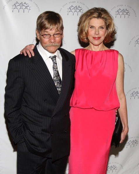 Matthew Cowles and Christine Baranski at The Plaza Hotel on December 13, 2009 in New York City. | Photo: Getty Images