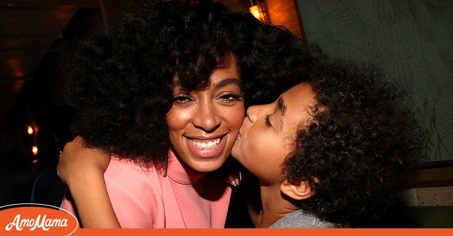 Solange and her son Daniel Julez J. Smith, Jr at the Solange and 14+ Foundation Partnership Party on May 4, 2014, in the Brooklyn borough of New York City | Photo: Getty Images