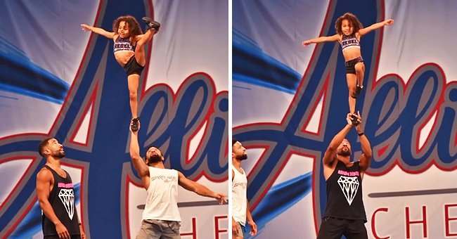 Roland Pollard and Daughter Jayden Make a Great Duo – Check Out Their Amazing Cheerleading Stunts