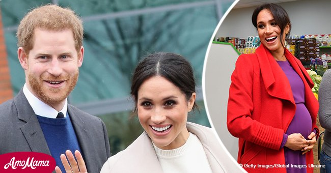 Meghan Markle reportedly just revealed due date while chatting to well-wishers in a $1,200 coat