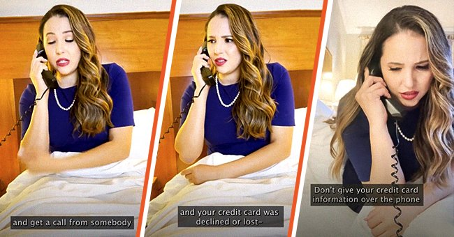 TikToker Cathy Pedrayes warning viewers about a credit scam via an online video. | Source: tiktok.com/cathypedrayes