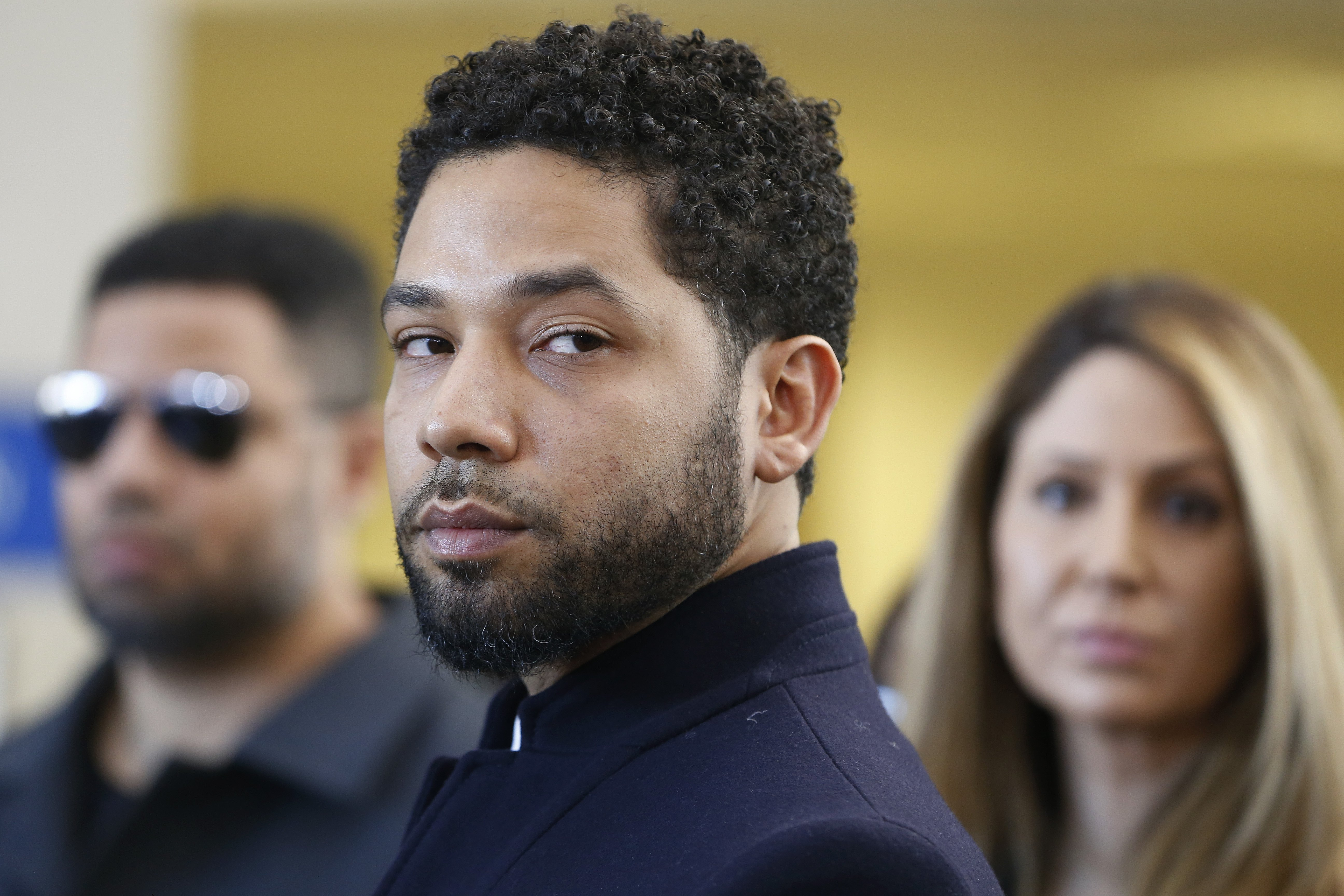Accused actor Jussie Smollett after his appearance at Leighton Courthouse in March 2019 in Chicago. | Photo: Getty Images