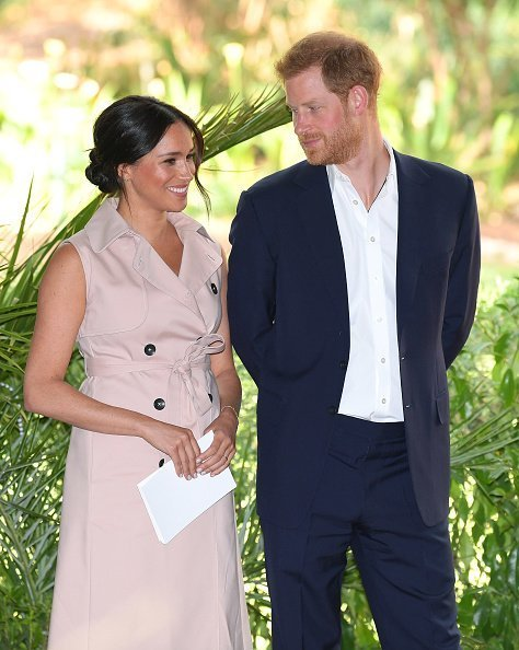 Meghan, Duchesse de Sussex et Prince Harry, Duc de Sussex lors de leur tournée royale en Afrique du Sud le 2 octobre 2019 à Johannesburg | Photo : Getty Images