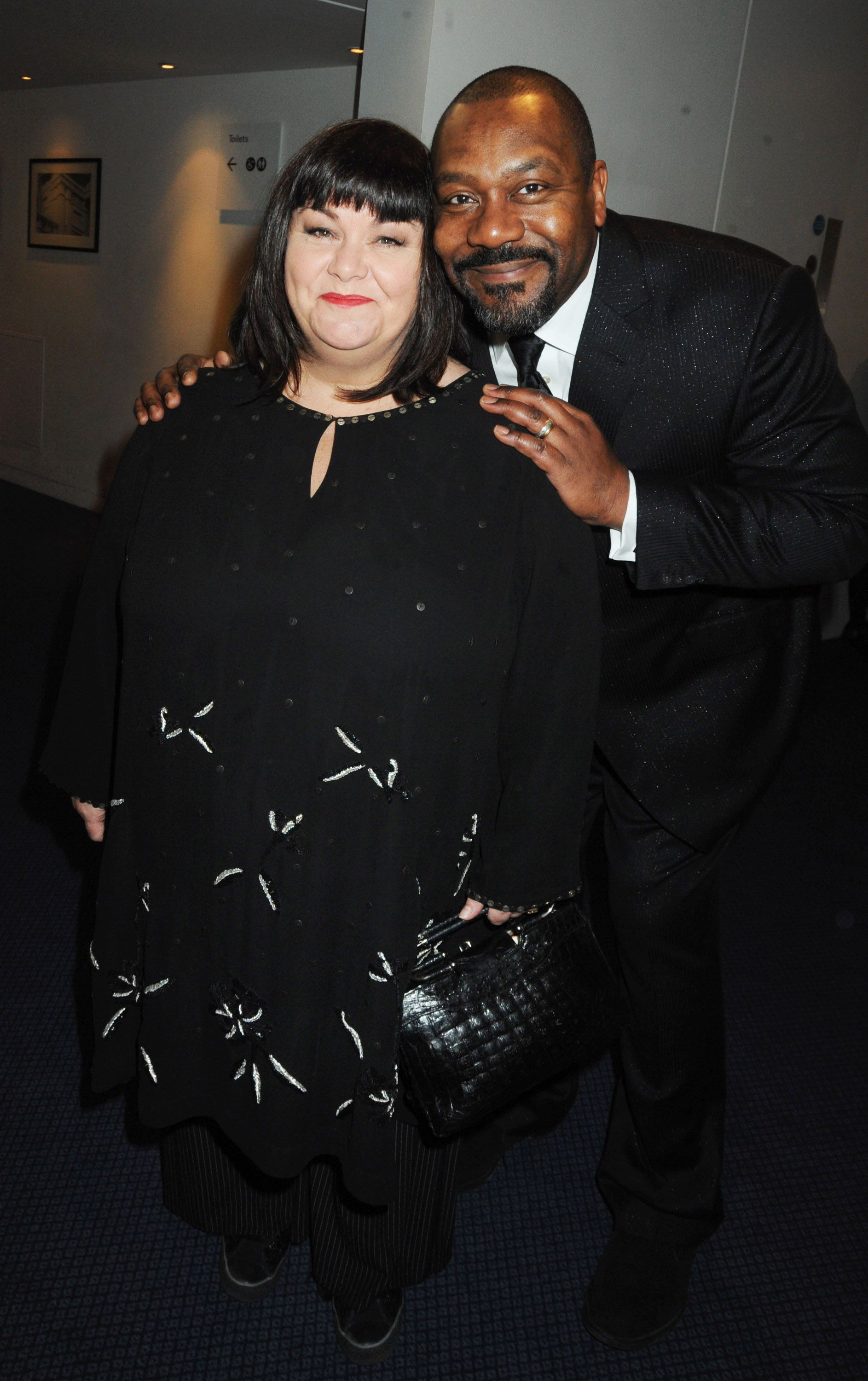 Lenny Henry and Dawn French at the reception ahead of the London Evening Standard Theatre Awards at the Royal Opera House on November 23, 2009 in London, England. | Photo: Getty Images