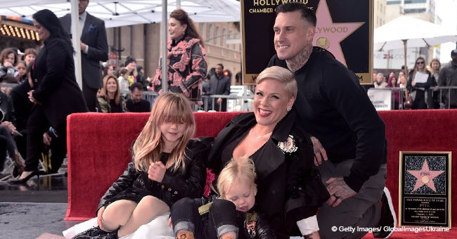 Pink Shares Sweet Photo with Her Two Kids and They've Grown so Big
