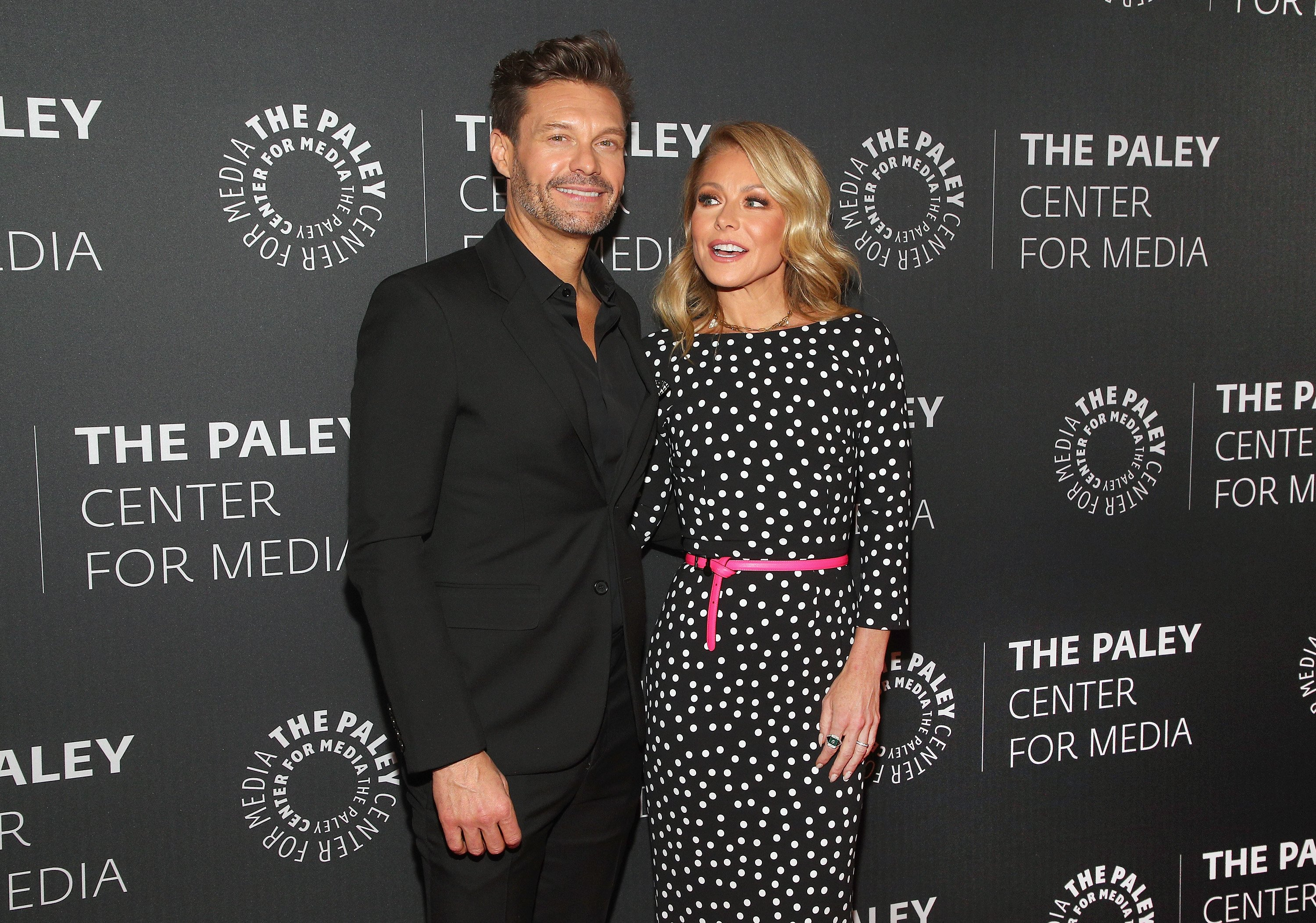 "Ryan Seacrest and Kelly Ripa attend The Paley Center For Media Presents: An Evening with ""Live with Kelly and Ryan"" on March 04, 2020, in New York City. 