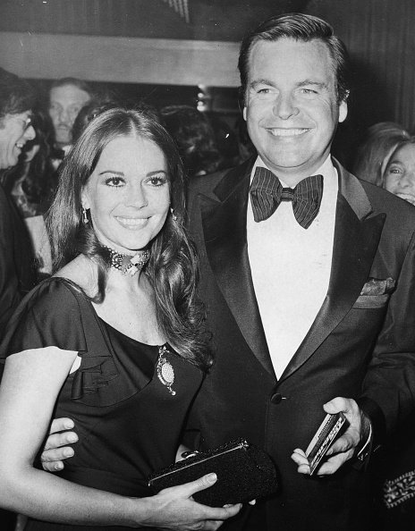 Natalie Wood and Robert Wagner, arriving at the premiere of the film 'The Godfather', London, August 24,1972. | Source: Getty Images.