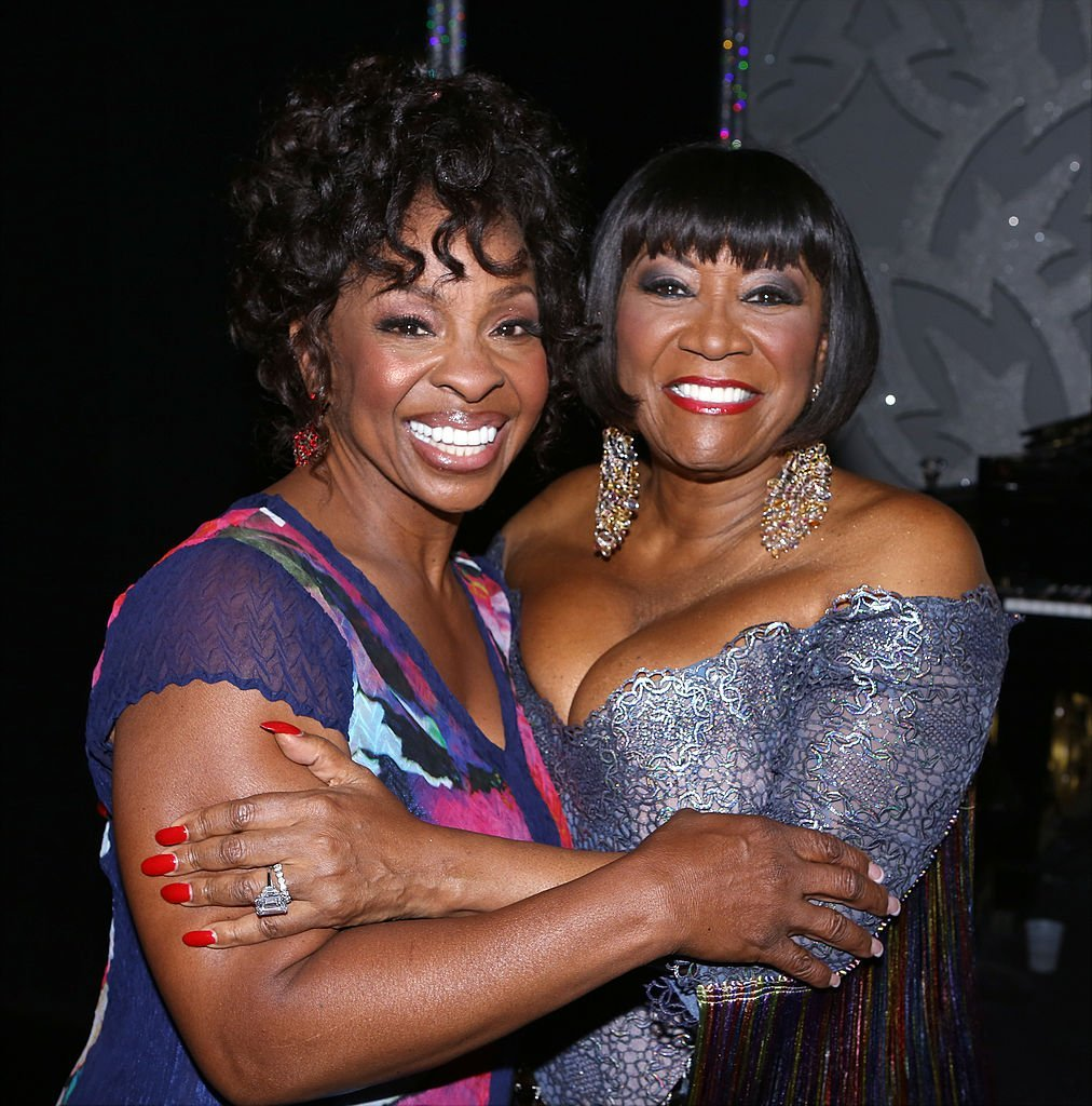 "Gladys Knight and Patti Labelle backstage after the latter debuted as a guest star in ""After Midnight"" in June 2014."