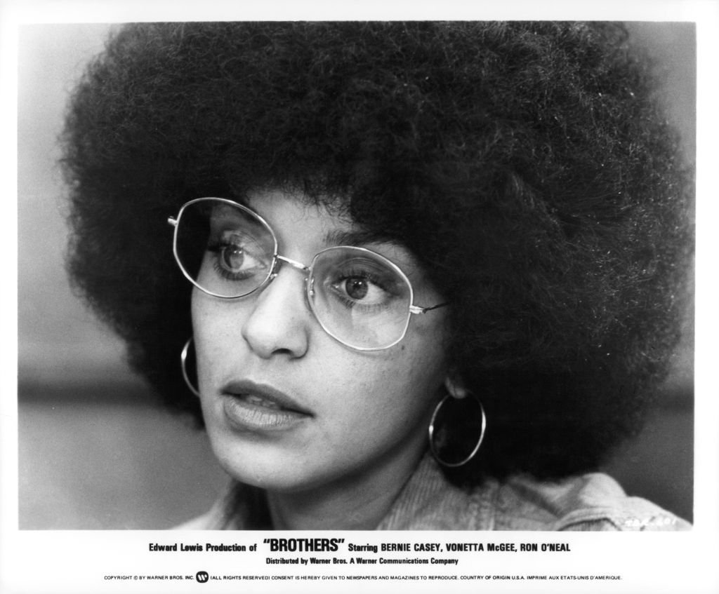 Vonetta McGee wearing glasses in a scene from the film 'Brothers', circa 1977. | Photo: Getty Images