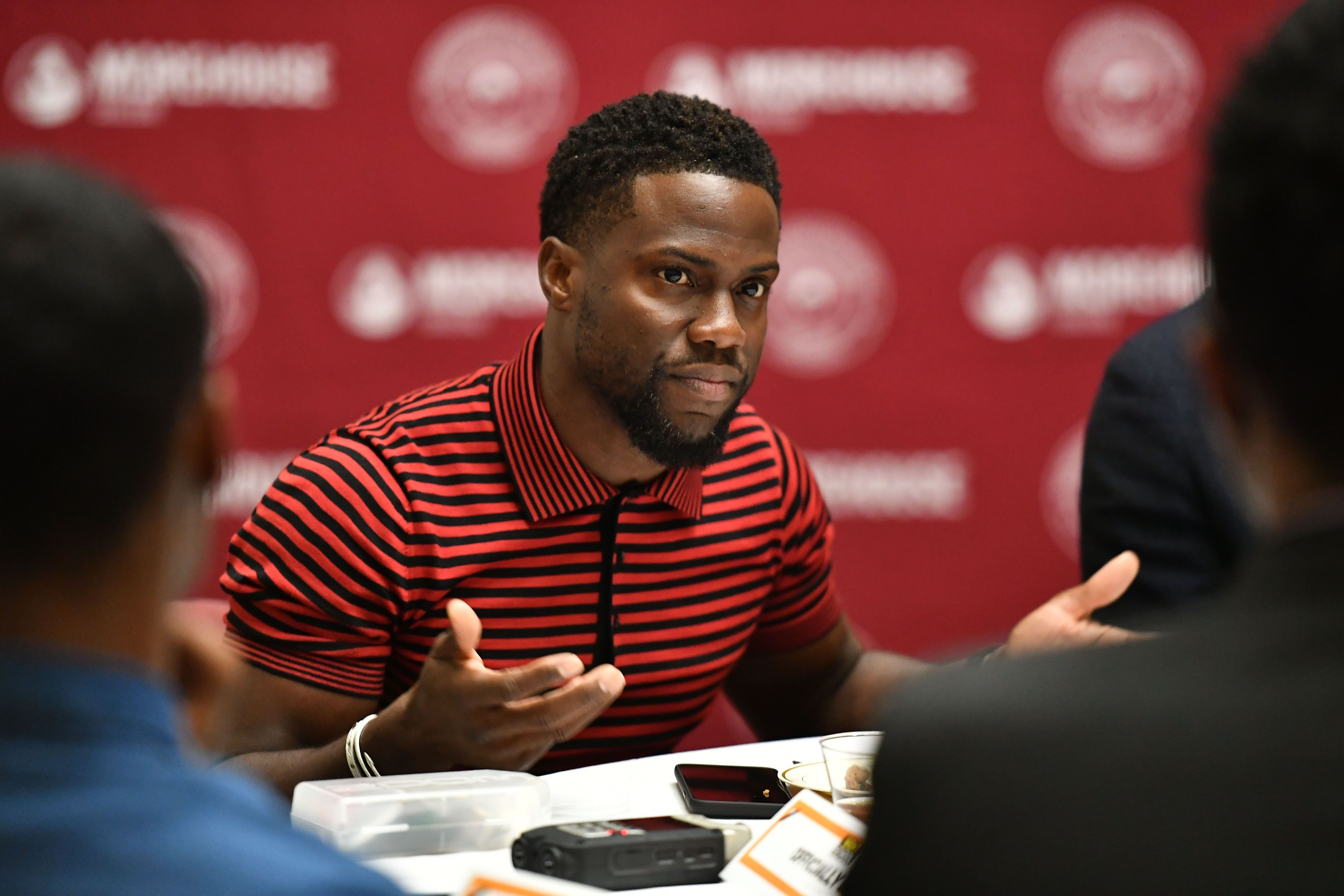 Kevin Hart at a speaking engagement | Source: Getty Images/GlobalImagesUkraine