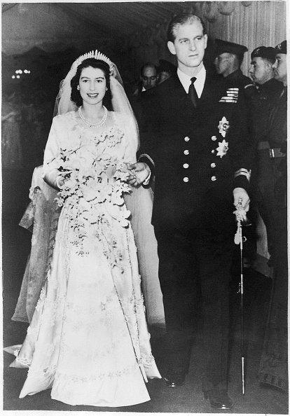 Mariage d'Elizabeth II et du lieutenant Philip Mountbatten.| Photo : Getty Images