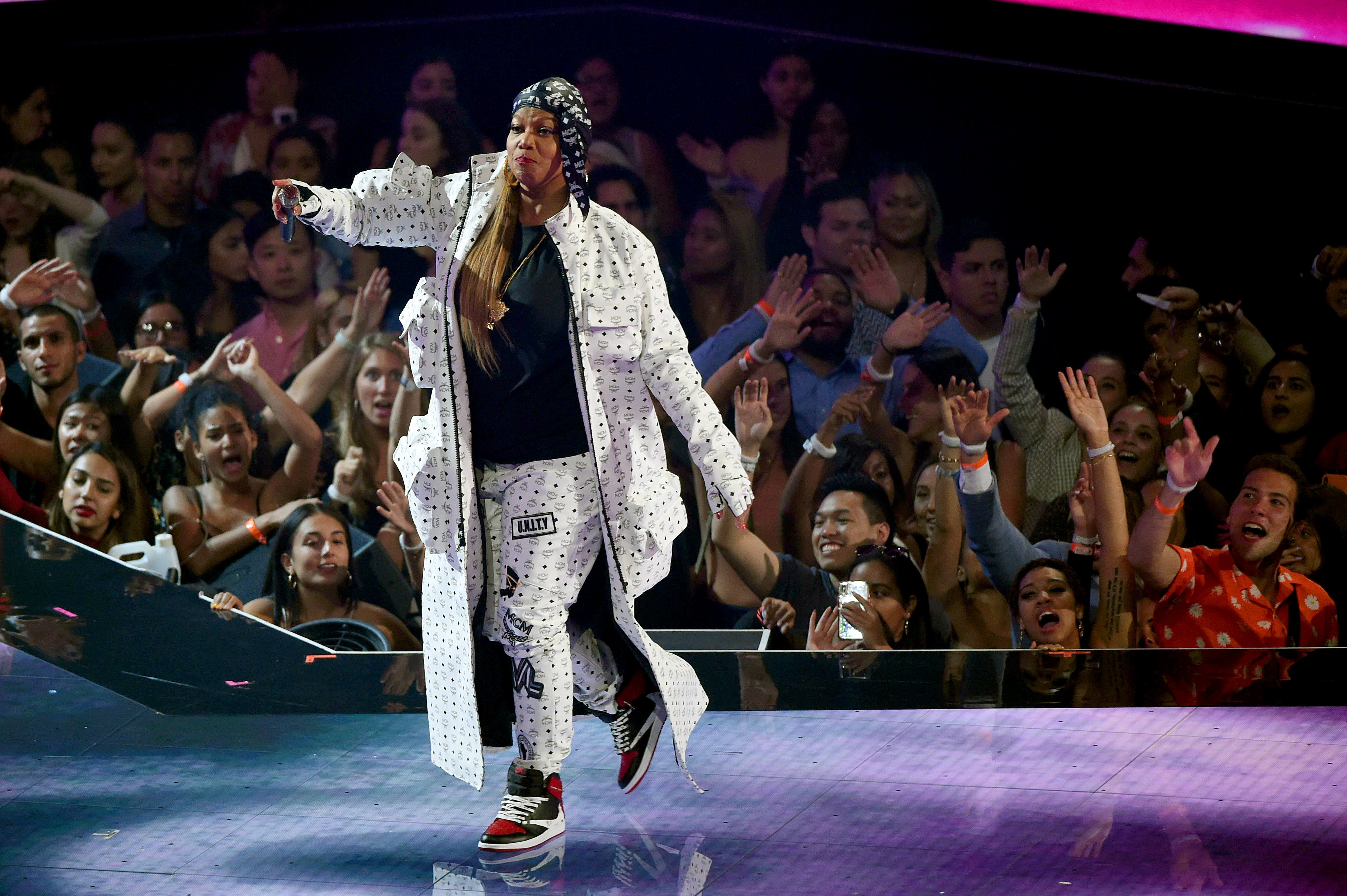Queen Latifah performs onstage during the 2019 MTV Video Music Awards on Aug. 26, 2019 in New Jersey | Photo: Getty Images