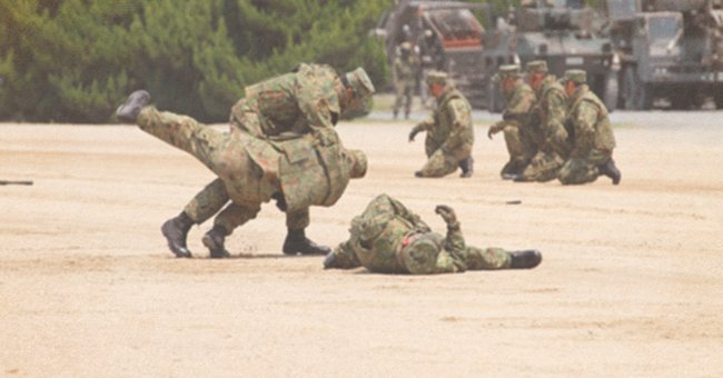 Daily Joke: Young Soldier Forgot to Take His Gun to a Training
