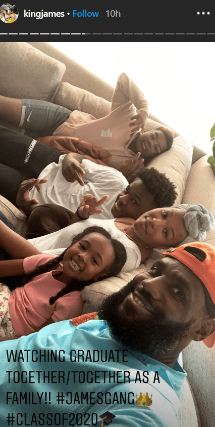 LeBron James and his family spending time together.   Photo: Instagram/kingjames