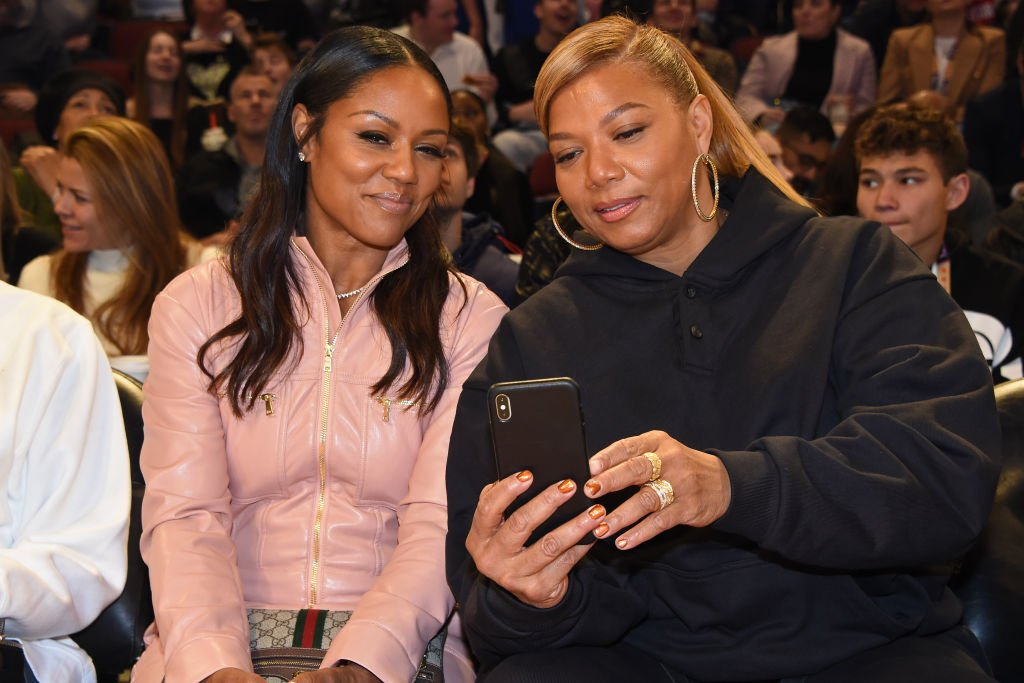 Queen Latifah and Eboni Nichols take a selfie during the 69th NBA All-Star Game as part of 2020 NBA All-Star Weekend on February 16, 2020 | Photo: Getty Images