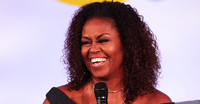 Michelle Obama Praised for Wearing Her Natural Curls at Obama Foundation Summit