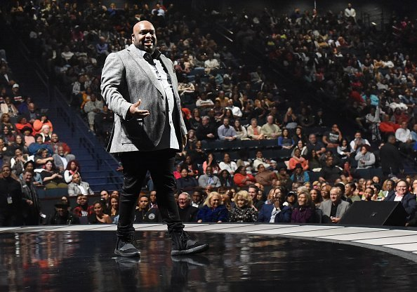 Pastor John Gray speaks onstage during the BET Presents Super Bowl Gospel attends the BET Presents Super Bowl Gospel Celebration at Lakewood Church  | Photo: Getty Images