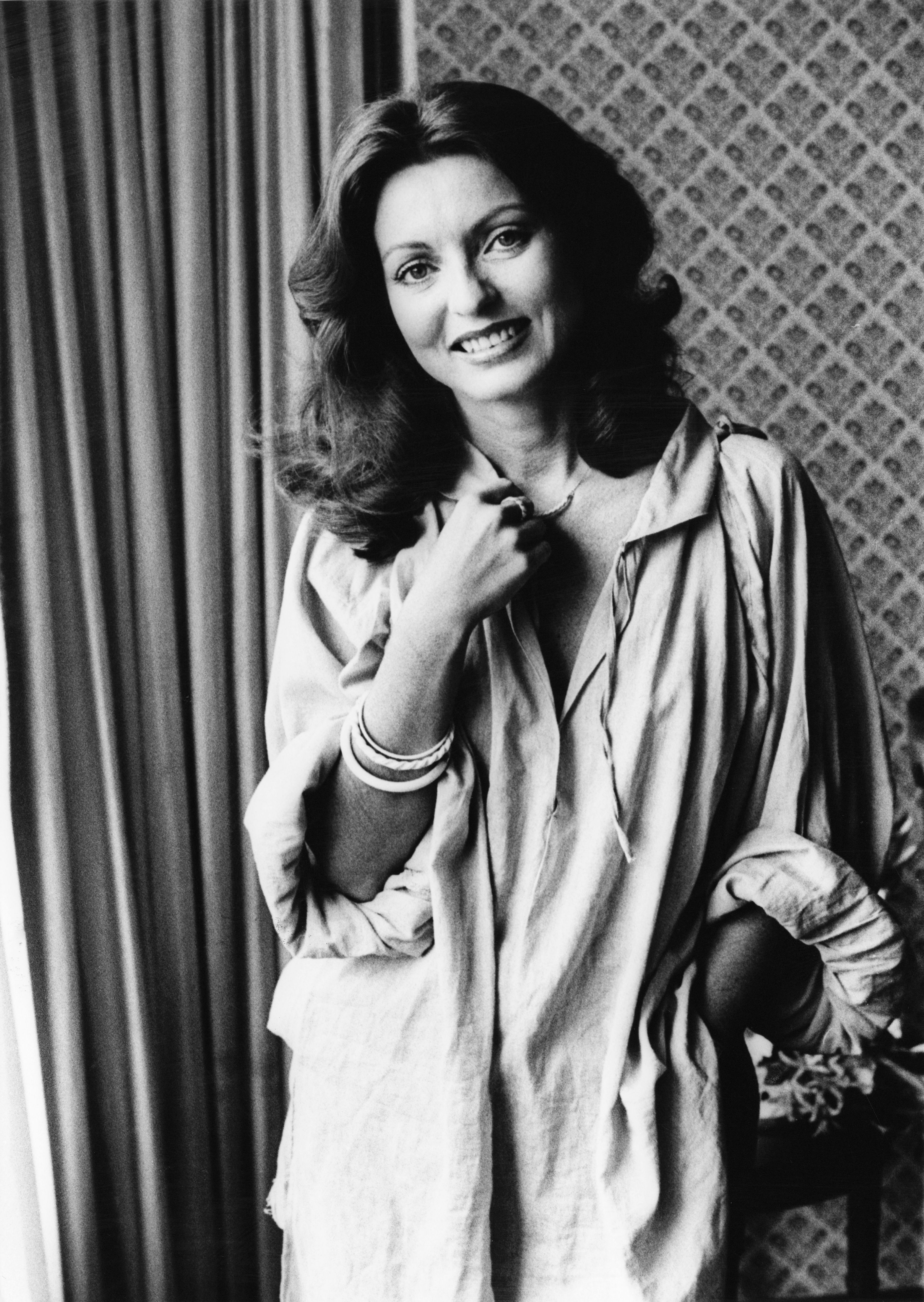 L'actrice française Marie-France Pisier (1944-2011), 31 août 1977. | Photo : Getty Images