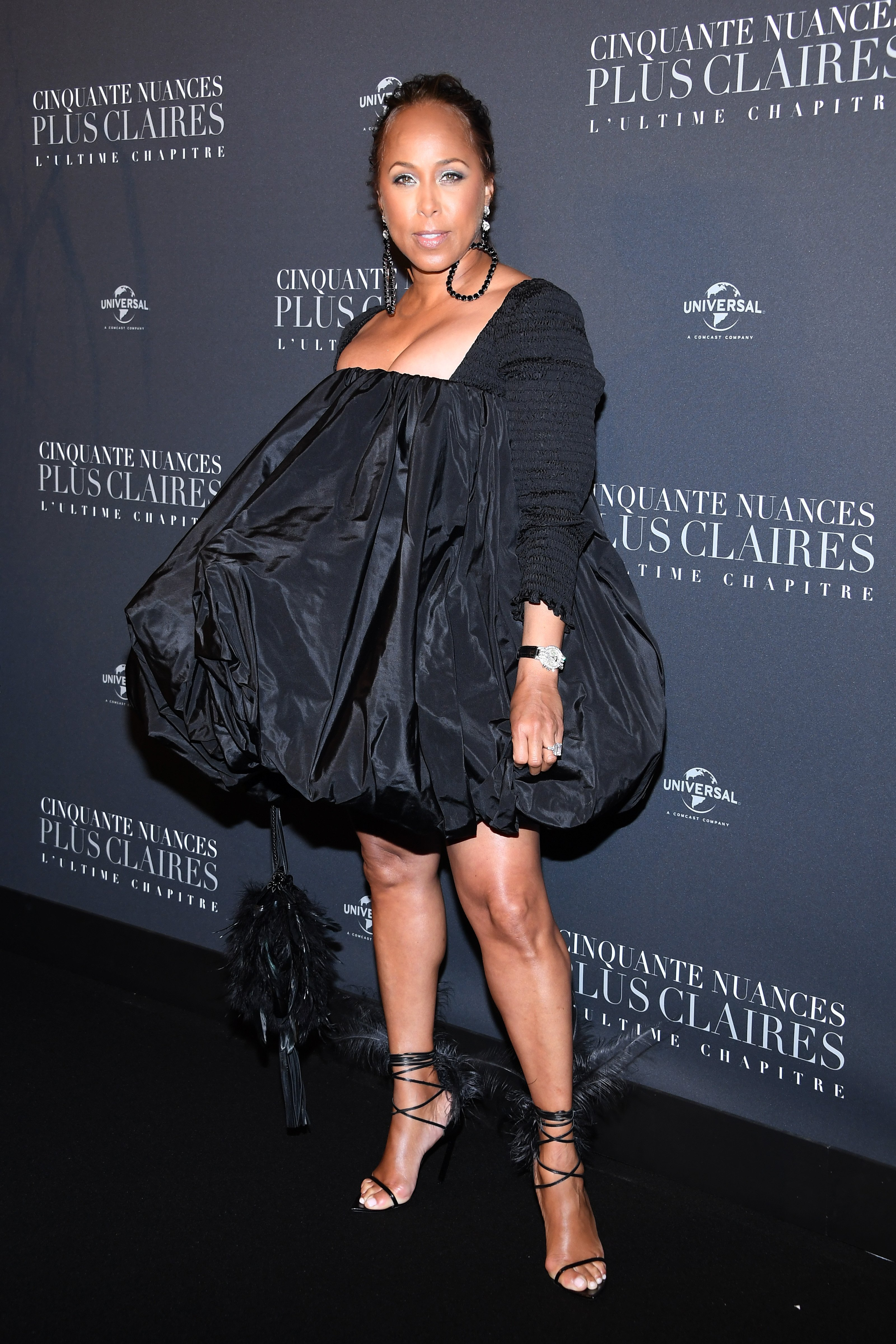 """Marjorie Harvey attending a """"Fifty Shades Freed"""" premiere in Paris in February 2018. 