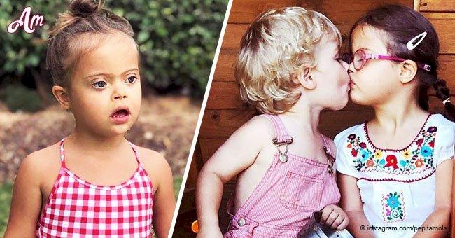 Niña de 3 años con síndrome de Down es toda una estrella de Internet por sus adorables fotos